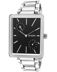 Nixon Womens Ivy Silver-tone Steel Black Dial - Lyst