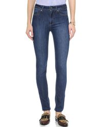 Dl1961 Nina High Rise Skinny Jeans - Zeppelin - Lyst
