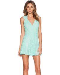BCBGMAXAZRIA Fit And Flare Mini Dress - Lyst