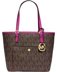 Michael Kors Michael Jet Set Medium Snap Pocket Tote - Lyst