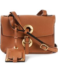 Valentino Eyelet Leather Shoulder Bag - Lyst