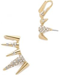 Sam Edelman - Pave Spike Ear Crawlers - Black/gold - Lyst