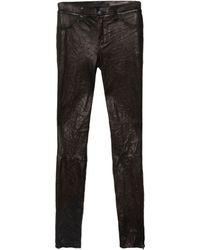 J Brand | Leather Zip Legging | Lyst