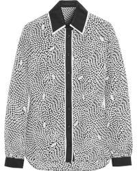 Karl Lagerfeld Bree Printed Silk Shirt - Lyst