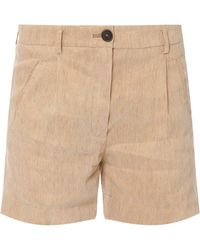 Forte Forte Linen Mix Shorts - Lyst