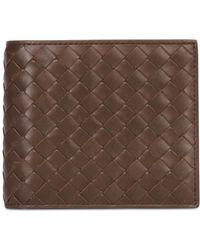 Bottega Veneta Hand Woven Leather Classic Wallet - Lyst