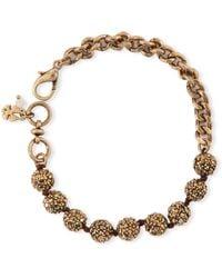 Lucky Brand Gold Tone Crystallized Ball Link Bracelet - Lyst