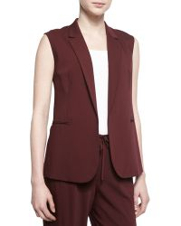 Theory Adar Open Front Suiting Vest - Lyst