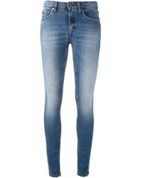 Victoria Beckham Faded Skinny Jeans - Lyst