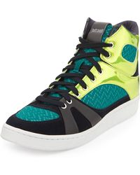 Just Cavalli Reflectivepanel Combo Hightop Sneaker - Lyst