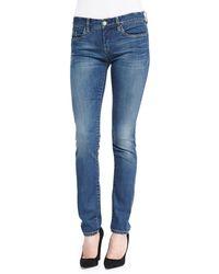 Blank Distressed Medium Wash Skinny Jeans Blue 24 - Lyst
