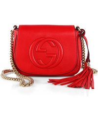Gucci Soho Leather Chain Shoulder Bag - Lyst