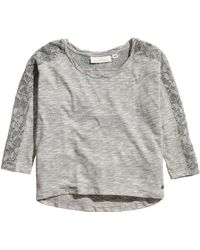 H&M Top with Lace Details - Lyst