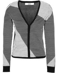 Prabal Gurung Striped Knit Cardigan - Lyst