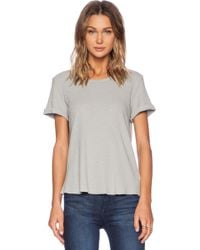 James Perse Rolled Sleeve Thermal Tee - Lyst