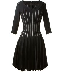 Azzedine Alaïa Black Stretch Dress - Lyst