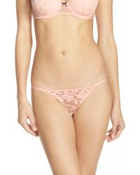 Betsey Johnson | 'starlet' Lace Thong | Lyst
