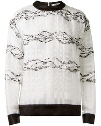 Prabal Gurung Black and White Quilted Sweater - Lyst