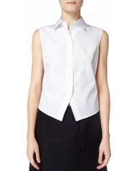 Maiyet Sleeveless Seamed Button Down - Lyst