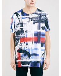 Topman Rothko Check Oversized Fit T-shirt - Lyst