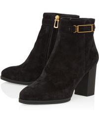 Tod's Black Gomma T85 Gancio Leather Ankle Boots - Lyst