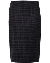 Adam Lippes Micropleat Checked Skirt - Lyst