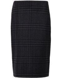 Adam Lippes Micro-Pleat Checked Skirt - Lyst