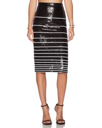 Alice + Olivia Rue Sequin Stripe Pencil Skirt - Lyst