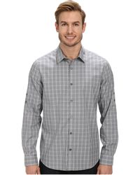 Calvin Klein End On End Ombre Check Roll-sleeve Woven Shirt - Lyst