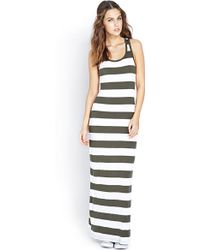 Forever 21 Out To Sea Striped Maxi Dress - Lyst