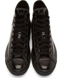 Diesel Black Patent Leather Exposure High_top Sneakers - Lyst