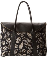 Pendleton Overnight Leather Tote - Lyst
