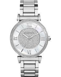 Michael Kors Womens Catlin Stainless Steel Bracelet Watch 38mm - Lyst