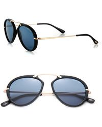 Tom Ford   53mm Round Acetate & Metal Sunglasses   Lyst