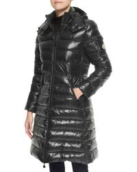 Moncler Hooded Long Puffer Coat - Lyst
