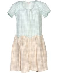 Opening Ceremony Green Short Dress - Lyst