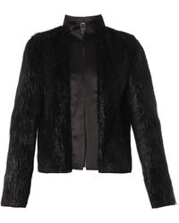 Gucci Satintrimmed Fur Jacket - Lyst