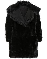 Miu Miu Reversible Shearling Coat - Lyst