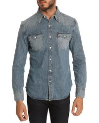Levi's Western Stud Press Denim Shirt - Lyst