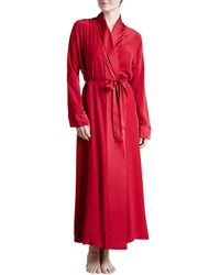 Donna Karan New York Glamour Silk Long Robe - Lyst