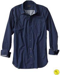 Banana Republic Factory Soft Wash Star Print Shirt Midland Grey Print - Lyst
