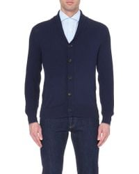 Brunello Cucinelli Knitted Cotton Cardigan - For Men - Lyst