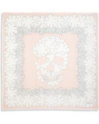 Alexander McQueen Bloom Modal & Silk Scarf pink - Lyst