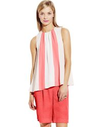 Vince Camuto Sleeveless Color-Blocked Top - Lyst