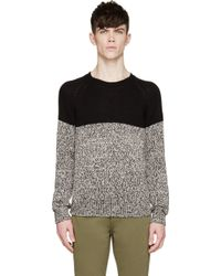Diesel Black Marled Colorblock K_Helvella Sweater black - Lyst