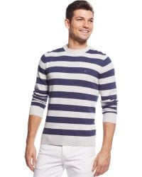 Tommy Hilfiger Signature Striped Crew-Neck Sweater - Lyst