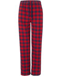 Björn Borg - Check Cotton Flannel Pant - Lyst