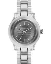 Karl Lagerfeld Karl Chain Stainless Steel Watch silver - Lyst