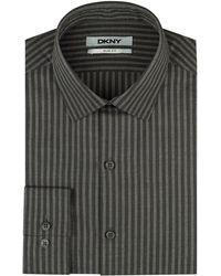 DKNY Mens Dobby Stripe Dress Shirt - Lyst