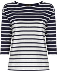 Jaeger Stripe Patch Pocket Top - Lyst